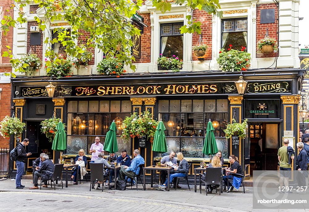 The Sherlock Holmes, a traditional London pub, in Westminster, London, England, United Kingdom, Europe