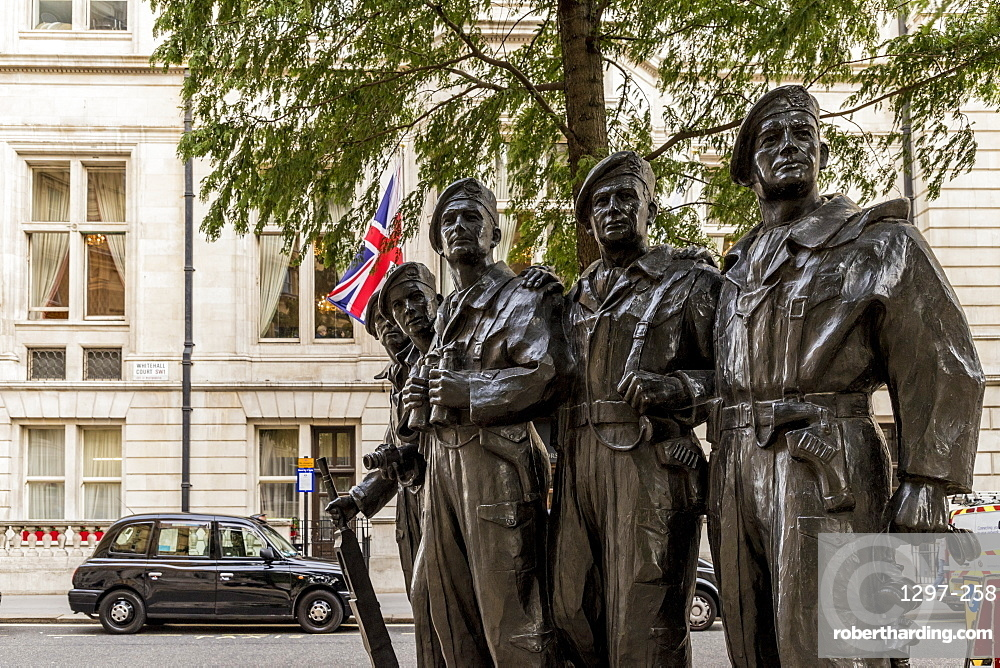 The Royal Tank Regiment Memorial in Westminster, London, England, United Kingdom, Europe