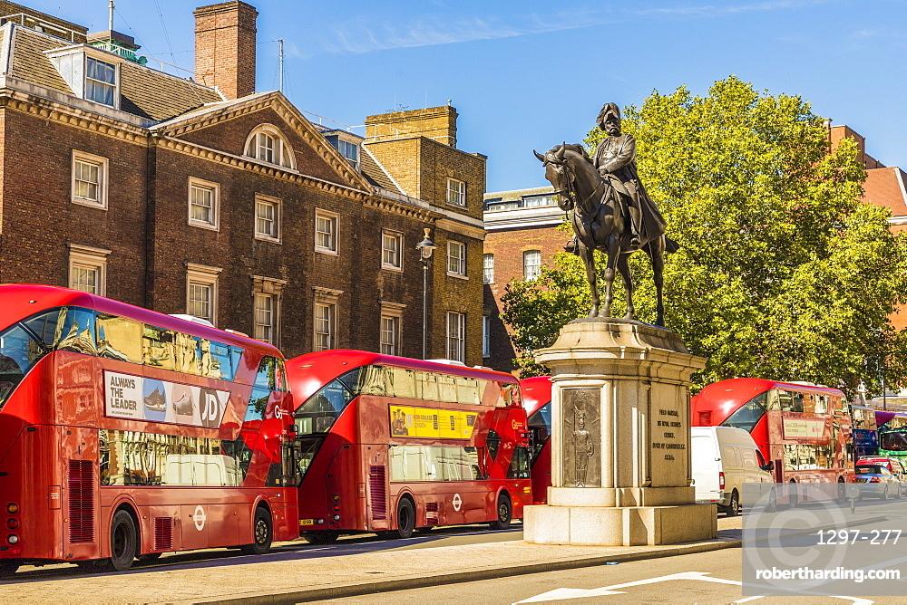 The Duke of Cambridge statue, Whitehall, London, England, United Kingdom, Europe