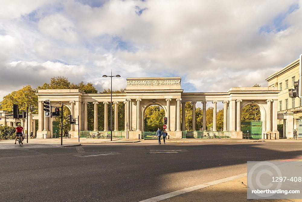 The grand entrance to Hyde Park, London, England, United Kingdom, Europe