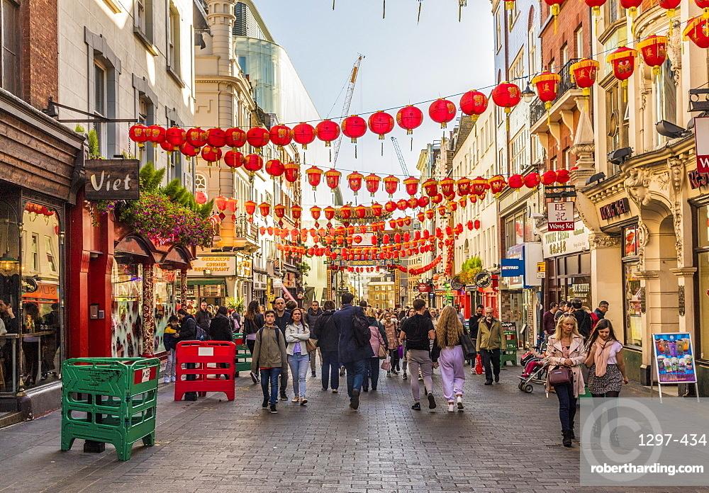 Wardour Street in Chinatown in Soho, London, England, United Kingdom, Europe
