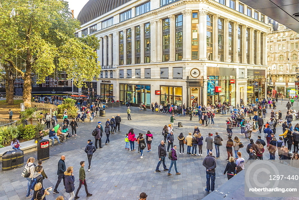 A view over Leicester Square, London, England, United Kingdom, Europe