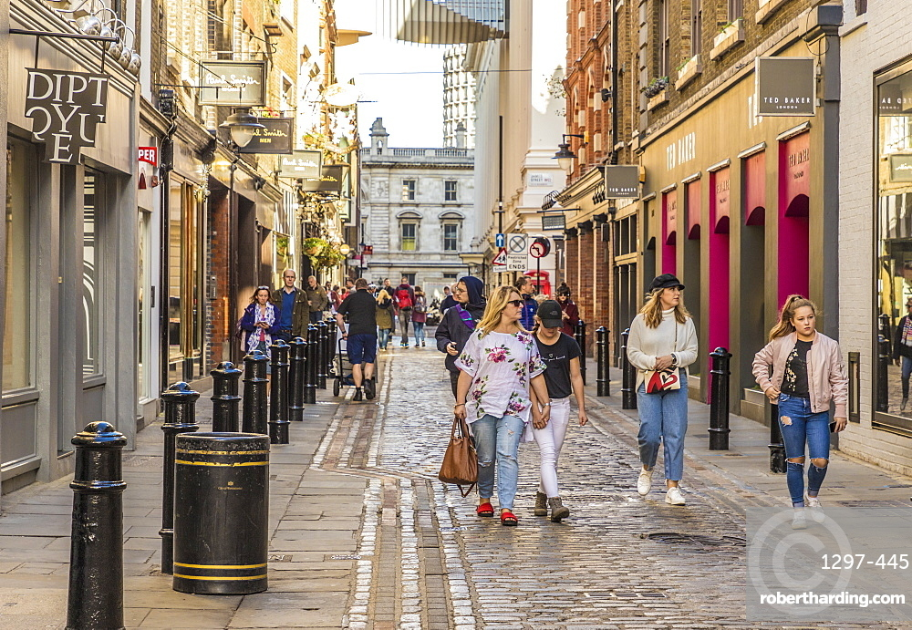 Floral Street in Covent Garden, London, England, United Kingdom, Europe