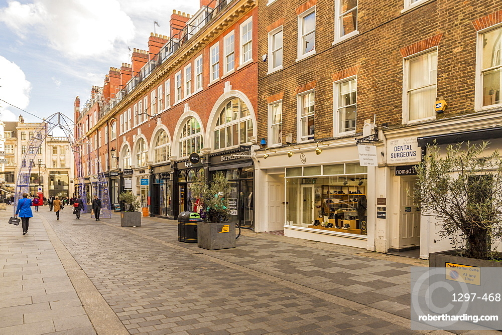 South Molton Street in Mayfair, London, England, United Kingdom, Europe