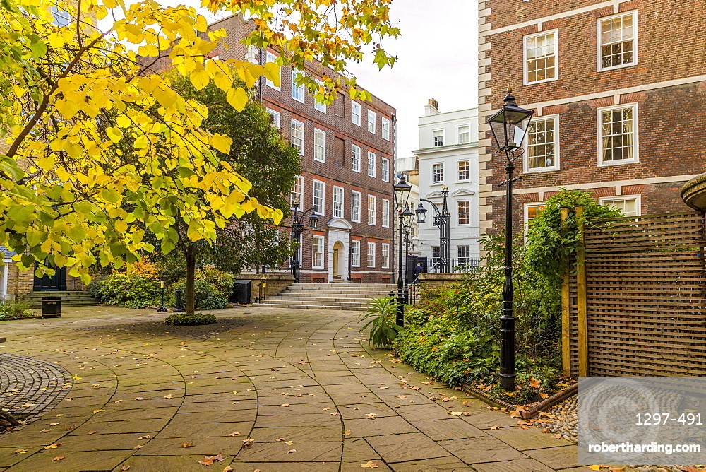 The Middle Temple gardens at Temple Inn, in Holborn, London, England, United Kingdom, Europe