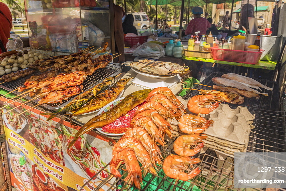 A food stall at Surin beach in Phuket, Thailand, Southeast Asia, Asia