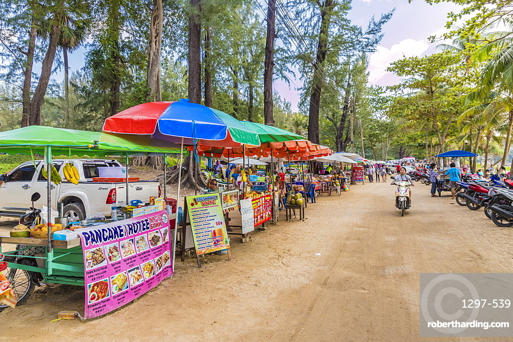 Food stalls at Surin beach in Phuket, Thailand, Southeast Asia, Asia
