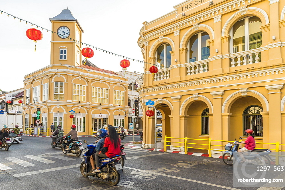 The colourful Peranakannitat Museum (Baba Museum) in Phuket old town, Phuket, Thailand, Southeast Asia, Asia