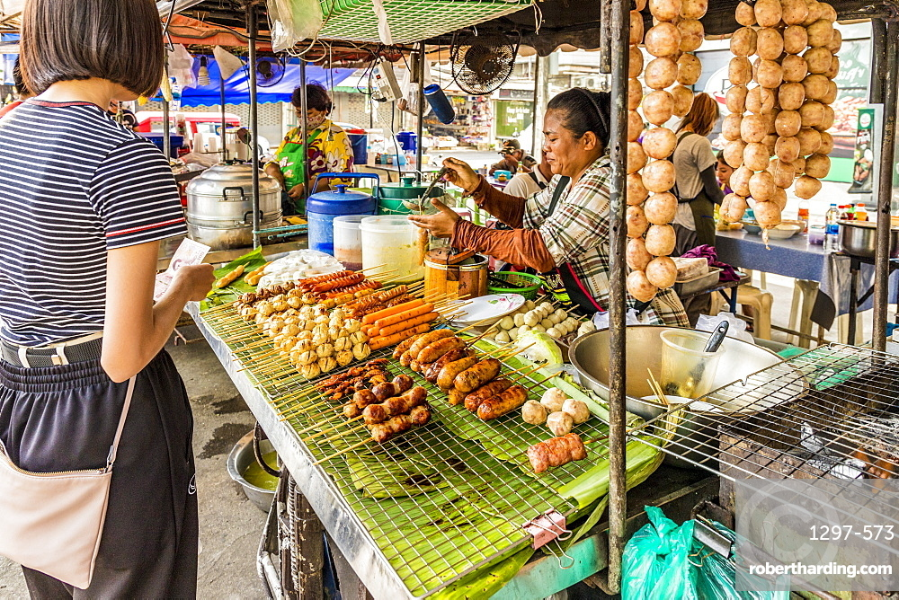 The local night market in Phuket old town, Phuket, Thailand, Southeast Asia, Asia