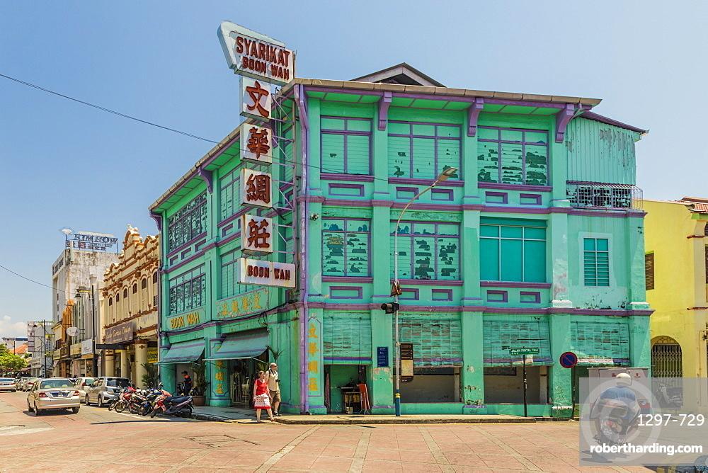 A street scene, George Town, Penang Island, Malaysia, Southeast Asia, Asia