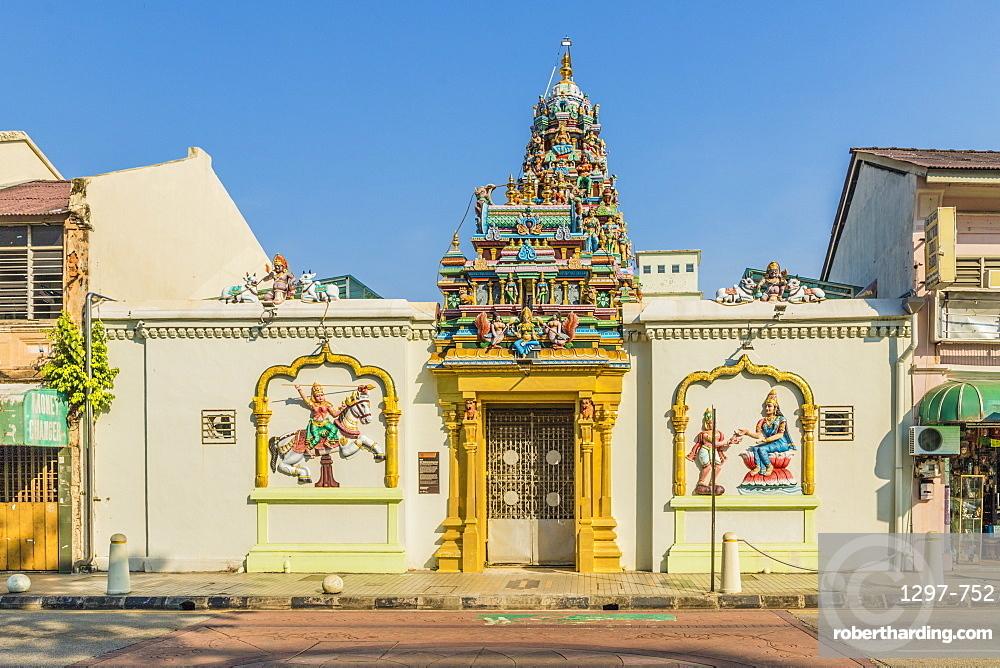 Sri Mahamariamman Temple in Little India, George Town, Penang Island, Malaysia, Southeast Asia, Asia