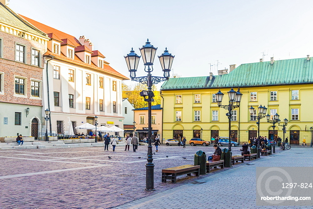 Little Market Square (Maly Rynek) in the medieval old town, UNESCO World Heritage Site, Krakow, Poland, Europe