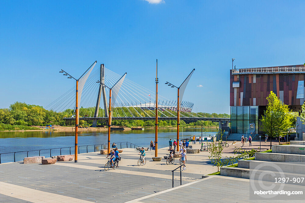 Vistulan Boulevards in Warsaw, Poland, Europe.