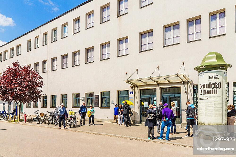 Oskar Schindler's Enamel Factory, now a museum in the former historical Jewish ghetto in Podgorze, Krakow, Poland, Europe.