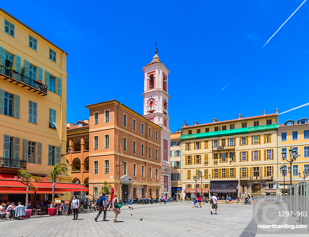 Palace of Justice Square in the Old Town, Nice, Alpes Maritimes, Cote d'Azur, French Riviera, Provence, France, Mediterranean, Europe