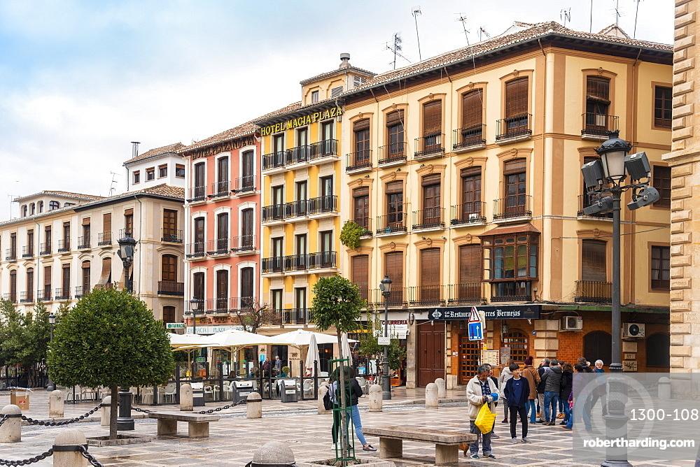 Plaza de Santa Ana, Granada, Andalucia, Spain, Europe