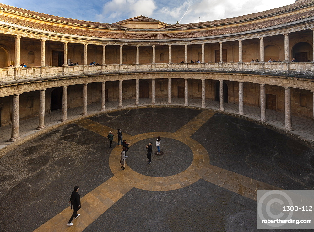 Palacio e Carlos V (Palace of Carlos the fifth), today the museum of Alhambra, Alhambra, UNESCO World Heritage Site, Granada, Andalucia, Spain, Europe