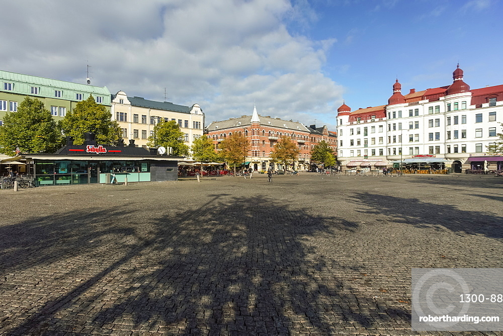 Mollevangstorget, market square in Mollevangen, Malmo, Skane county, Sweden, Europe