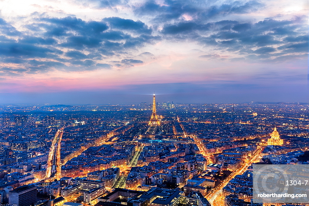 Paris looking out from the Montparnasse Tower, Paris, France, Europe