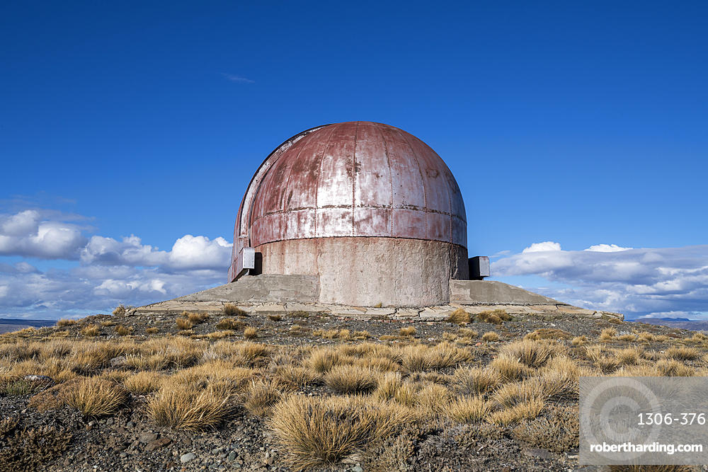 Old abandoned Observatory in a remote landscape, Patagonia, Argentina, South America