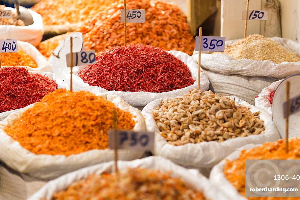 Spice and fruit display, Bangkok, Thailand, Southeast Asia, Asia