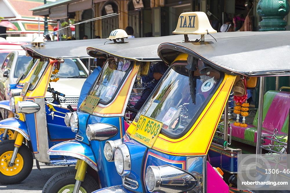 Tuk tuks in Bangkok, Thailand, Southeast Asia, Asia