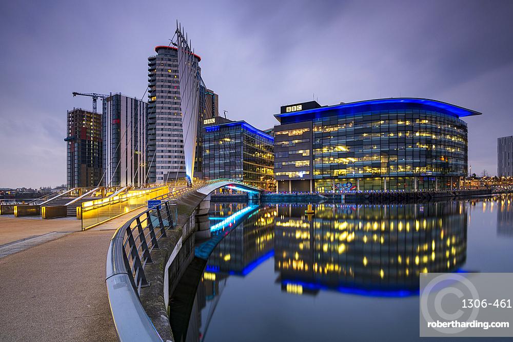 BBC building at MediaCity UK, Salford Quays, Manchester, England, United Kingdom, Europe