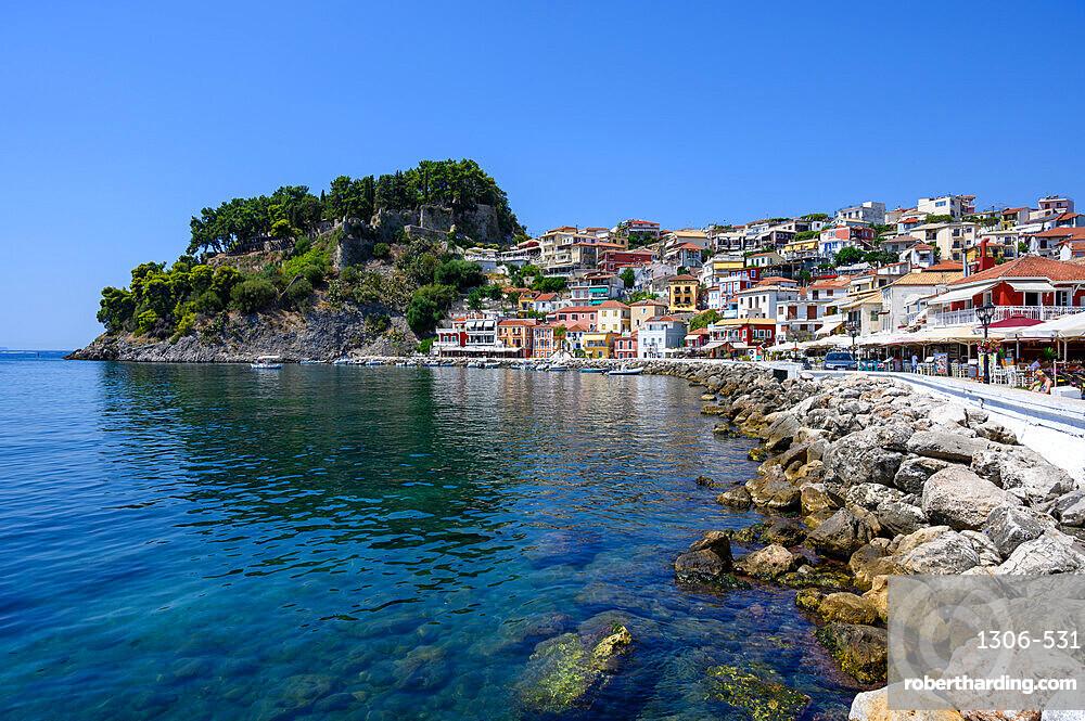 Parga castle and waterfront, Parga, Preveza, Greece