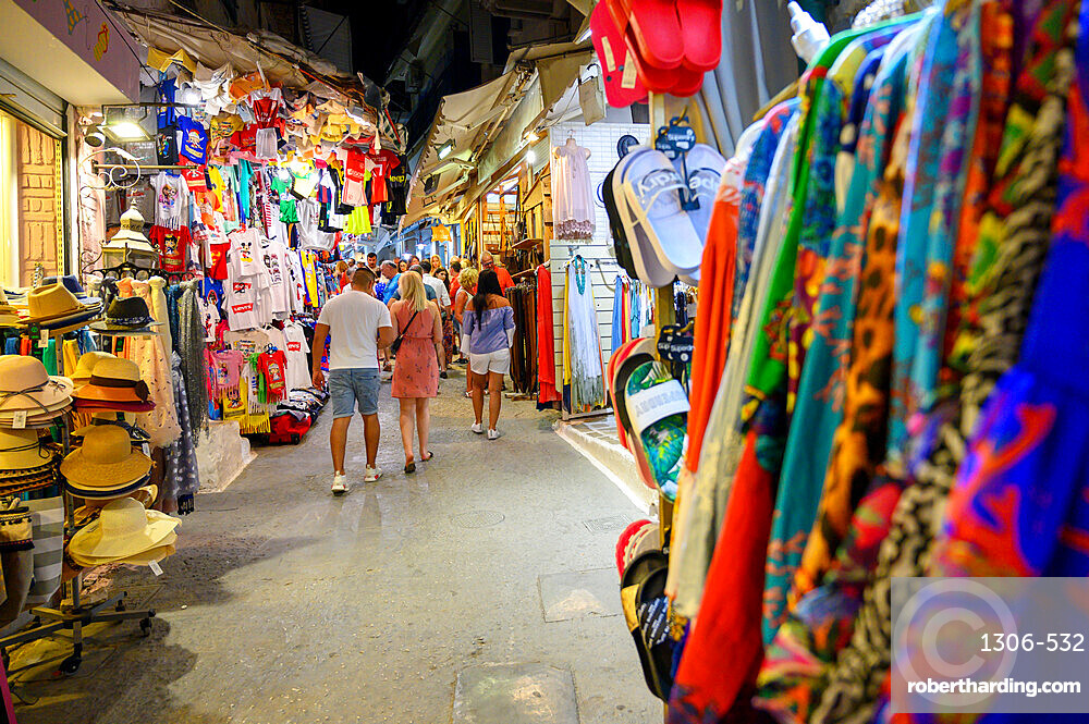 Shops selling souvenirs, Parga, Preveza, Greece
