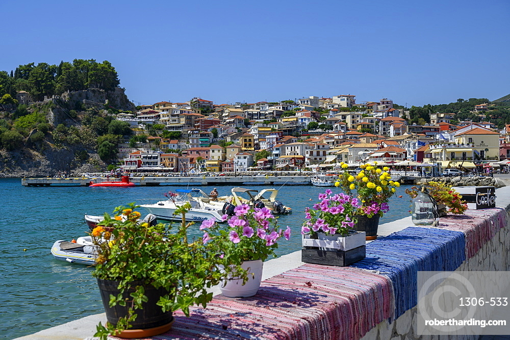 The colourful town of Parga, Parga, Preveza, Greece
