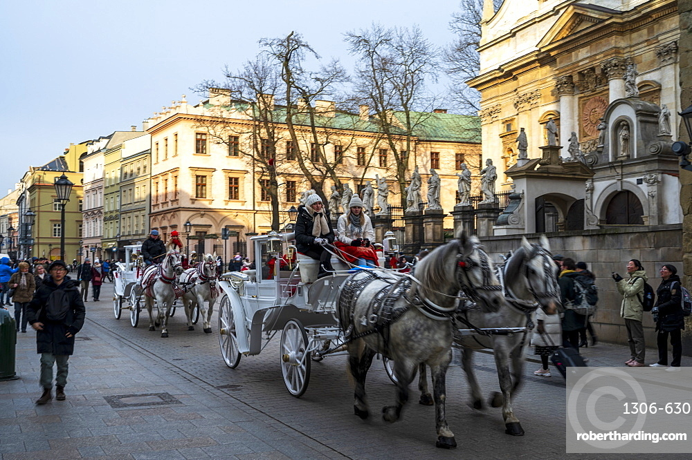 Horse drawn carriage, Krakow, Poland
