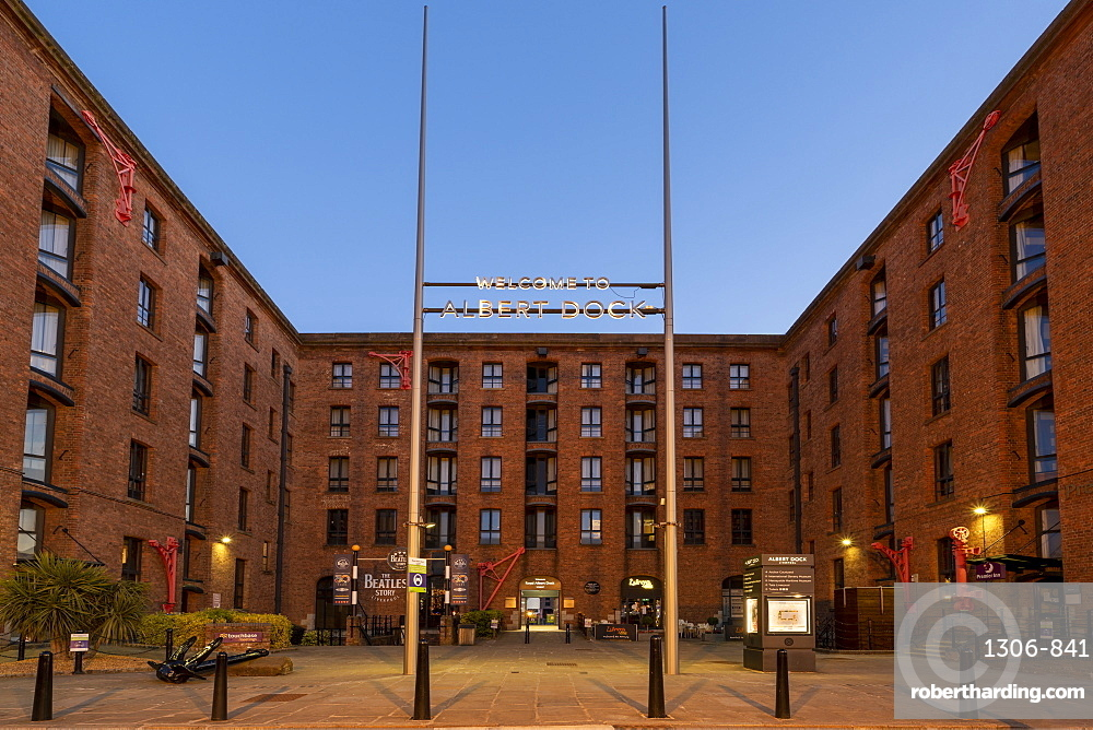 The Beatles story and entrance to the Royal Albert Dock, Liverpool, Merseyside