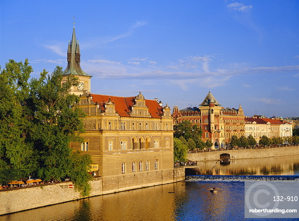 Buildings on the River Vltava, Prague, Czech Republic, Europe