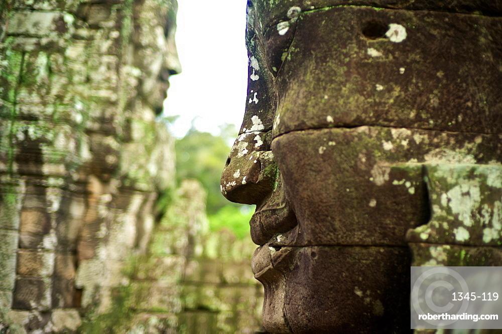Ancient ruins of Bayon Temple, Angkor, Siem Reap, Cambodia