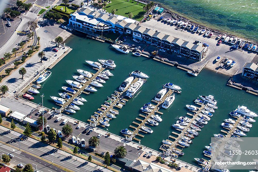 Aerial view of the St Kilda Marina, Australia