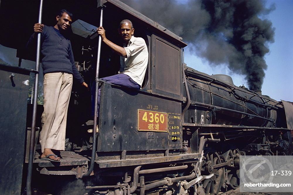 Steam locomotive, India, Asia