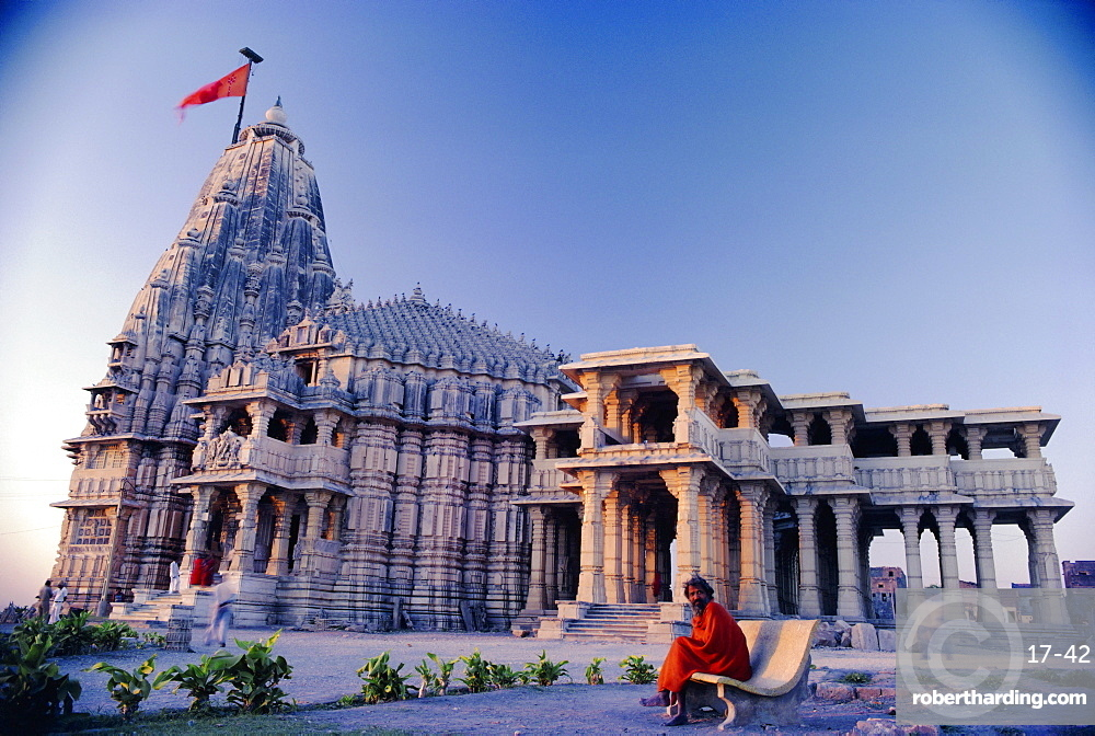 Temple at Somnath, one of the most sacred in India, Somnath, Gujarat, India