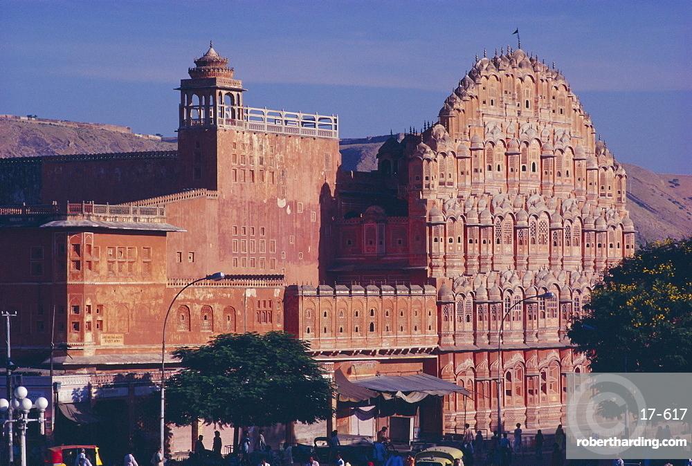 Hawa Mahal, the Palace of the Winds, in Jaipur, Rajasthan, India