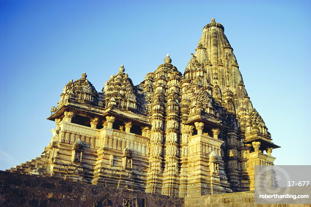The Kandariya Mahadev Temple in the Western Group of Temples at Khajuraho, Madhya Pradesh, India