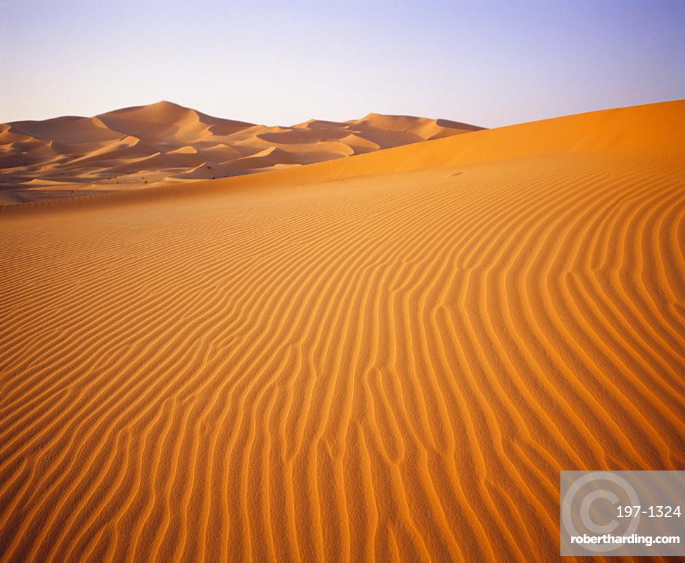 Sand dunes, Grand Erg Occidental, Sahara Desert, Algeria, Africa