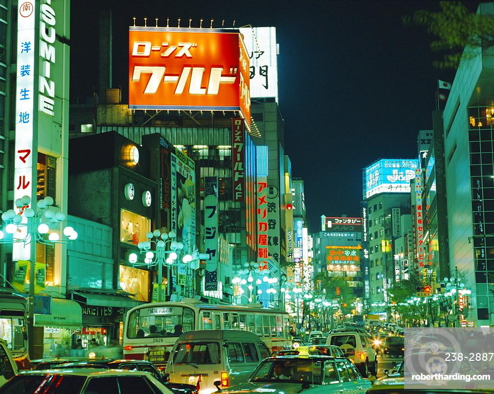 Street at night, Tokyo, Japan