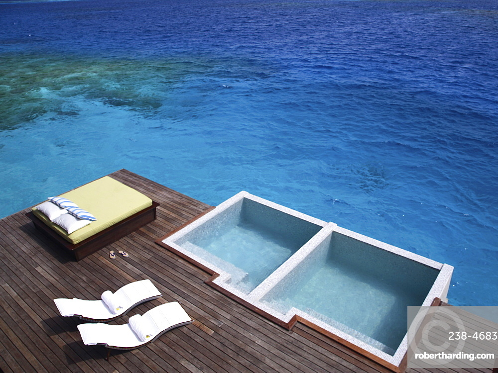 Pool at the Spa at the Coco Palm Bodu Hithi in the Maldives, Indian Ocean, Asia