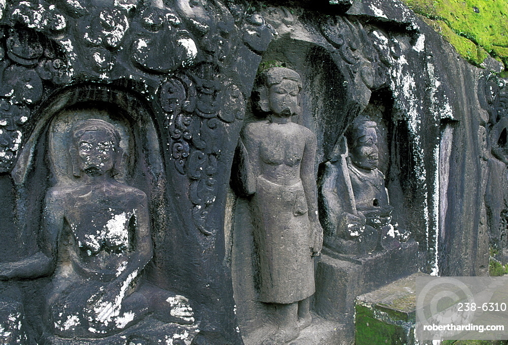 Ye Pulu carvings dating from the 14th century, some of the oldest in Bali, Indonesia, Southeast Asia, Asia