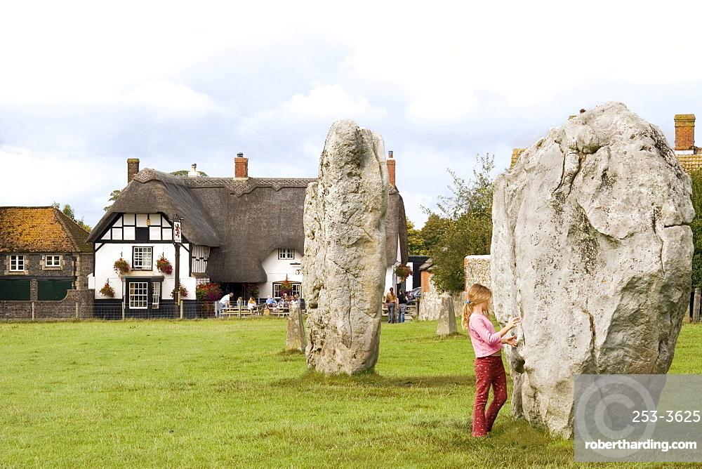 Standing stones, Avebury, UNESCO World Heritage Site, Wiltshire, England, United Kingdom, Europe