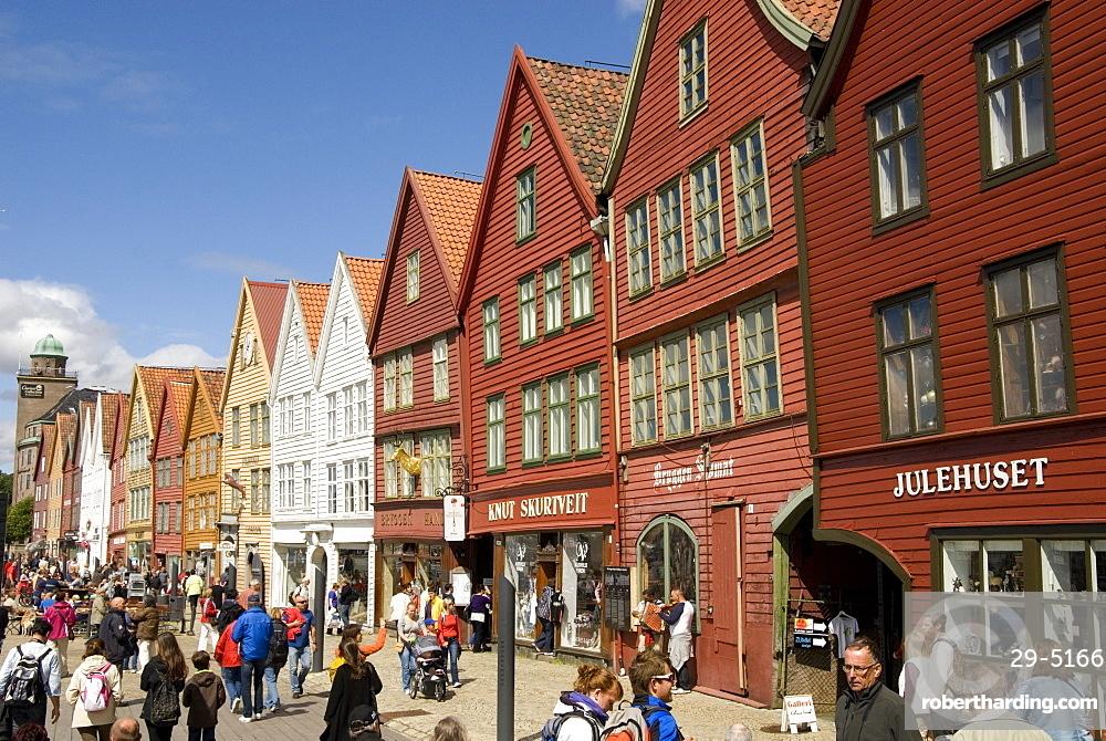 Bryggen waterfront, UNESCO World Heritage Site, Bergen, Norway, Scandinavia, Europe