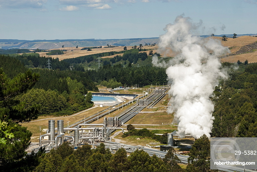 Wairakei Geothermal Power Station, Taupo, North Island, New Zealand, Pacific
