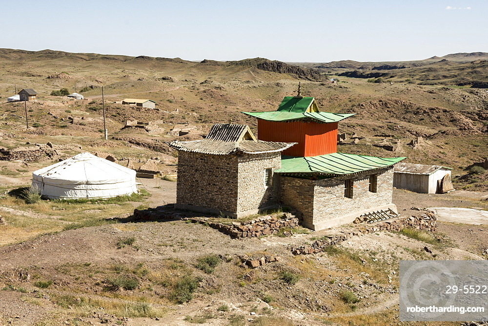 Bari Lam Khild Buddhist Monastery, Ongiin River, Mongolia, Asia