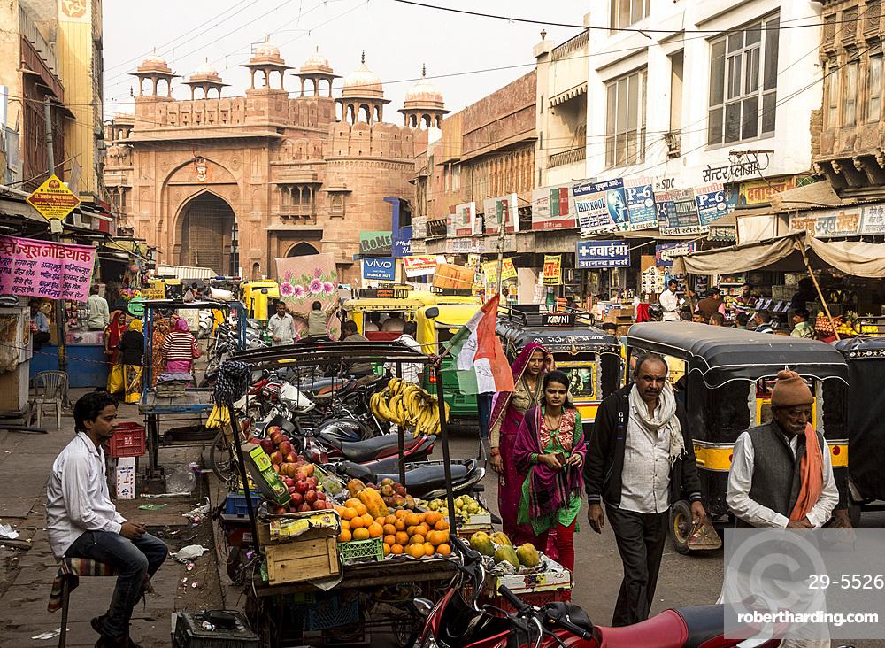 Kothe Gate, Old City, Bikaner, Rajasthan, India, Asia
