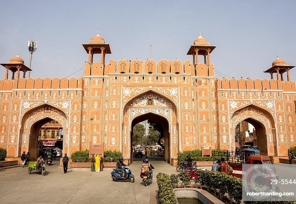 Ajmer Gate, Jaipur, Rajasthan, India, Asia