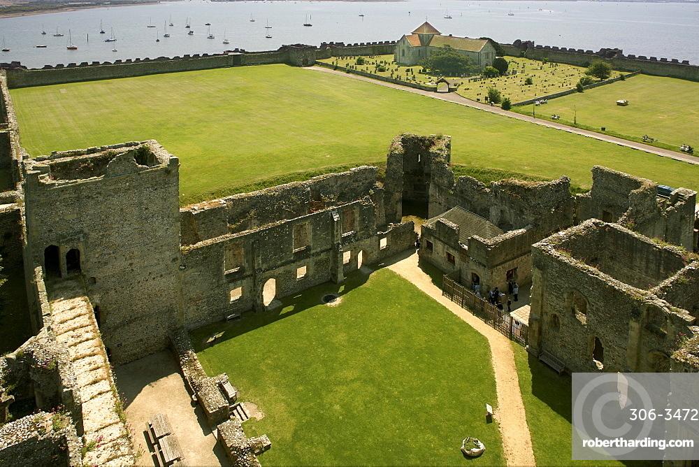 Portchester castle, Hampshire, England, United Kingdom, Europe